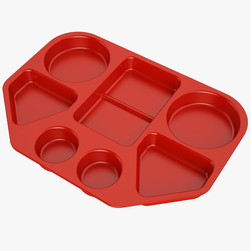lunch food tray 3d model