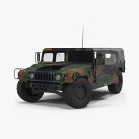 3d troop carrier hmmwv m1035 model