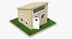 3d kids play house model