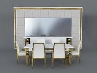3d model dinning table