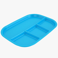 3d model lunch food tray