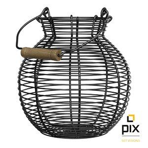 3d model wire basket