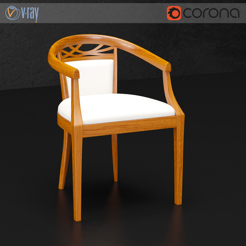 dall agnese wood chair 3d model