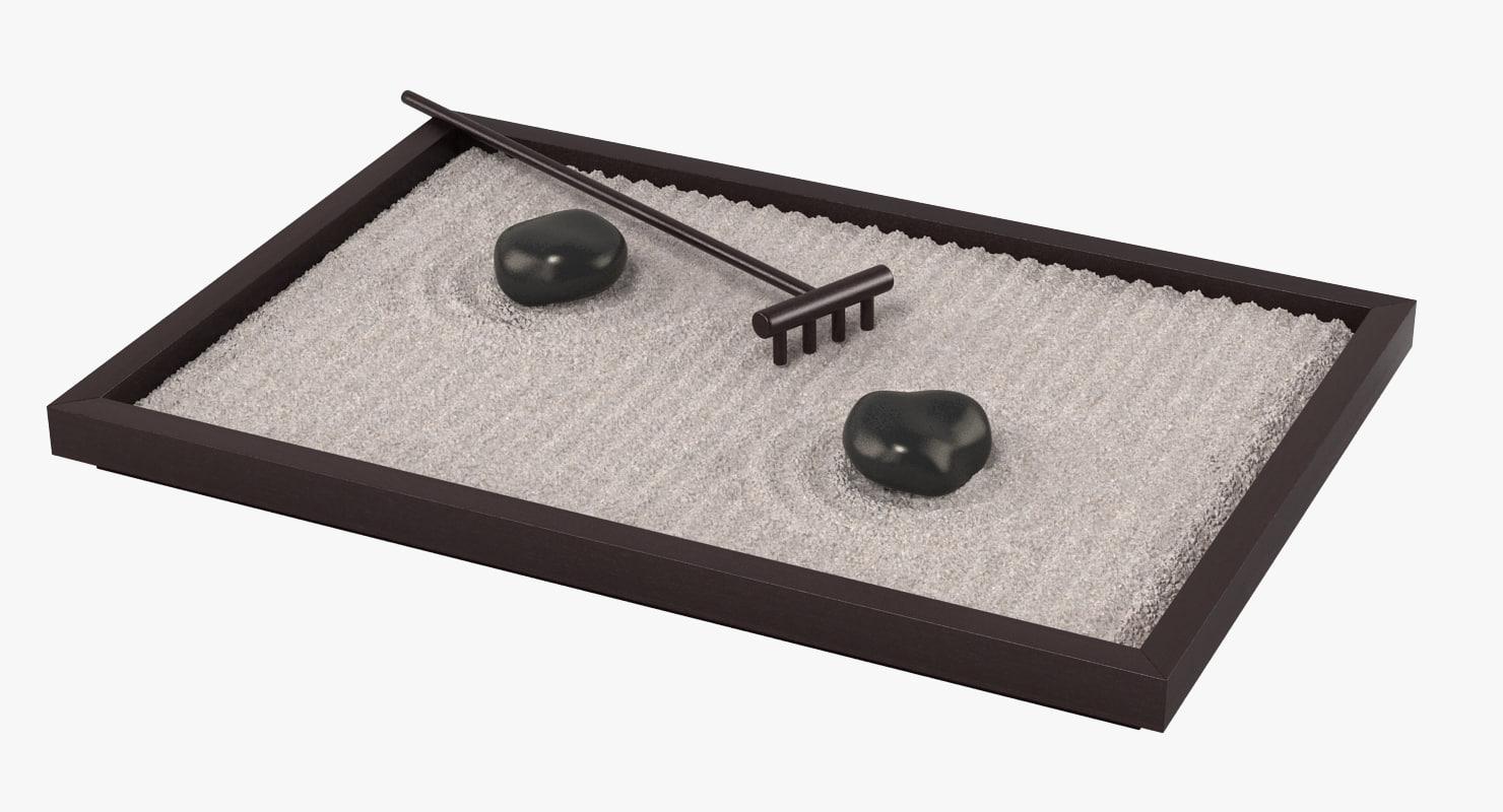 table zen garden 3d max