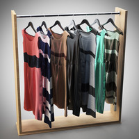 Dresses on hanger