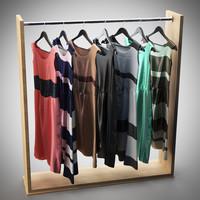 rack dresses 3d max