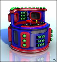 3d roller coaster cabine model
