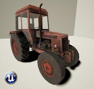 ready tractor mtz-80 3d max