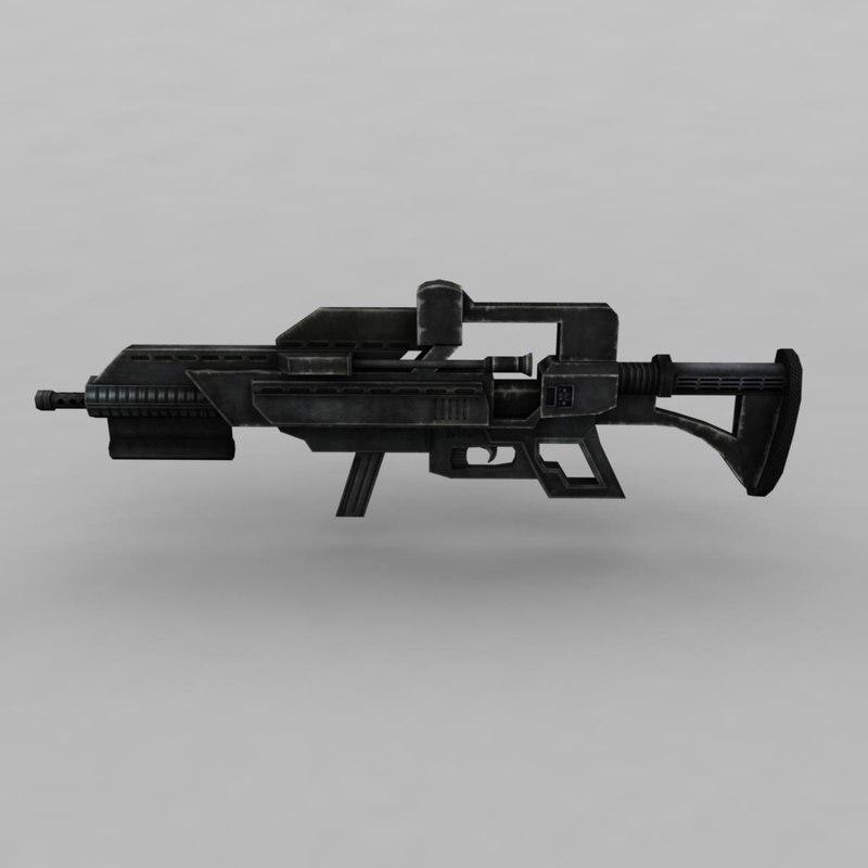 3d gun modelled model