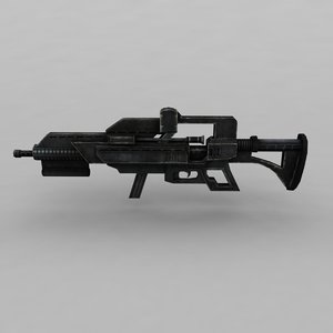 3d gun modelled model