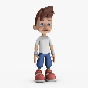 3d model stylized character rigged -
