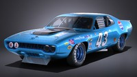 plymouth roadrunner nascar 3d model