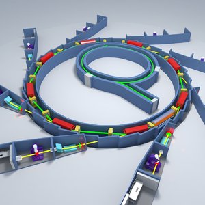 3d model synchrotron hadron collider