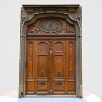 Door Wood Historic Rounded
