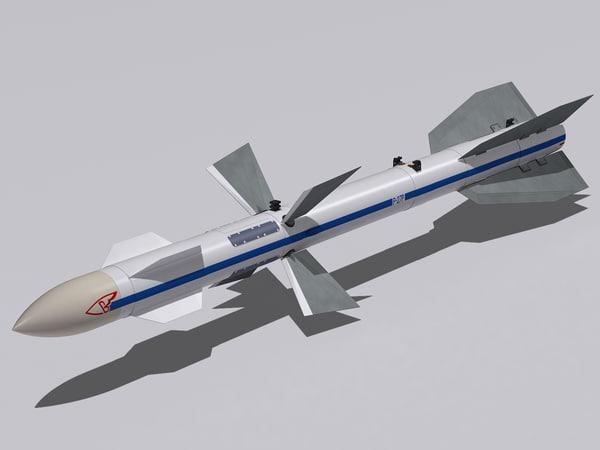 r-27 missile r-27r 3d 3ds