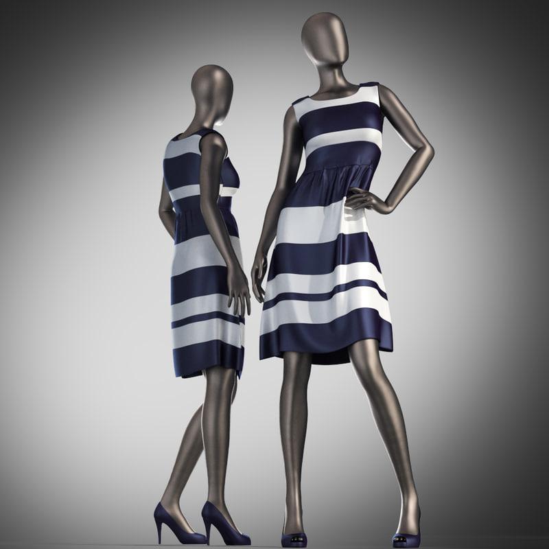 dress mannequin 3d max