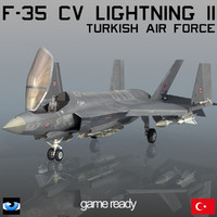 3d model turkish air force f-35