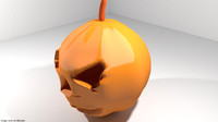 character horror pumpkin 3d model