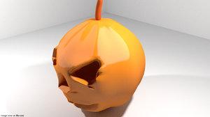 character horror pumpkin 3d model
