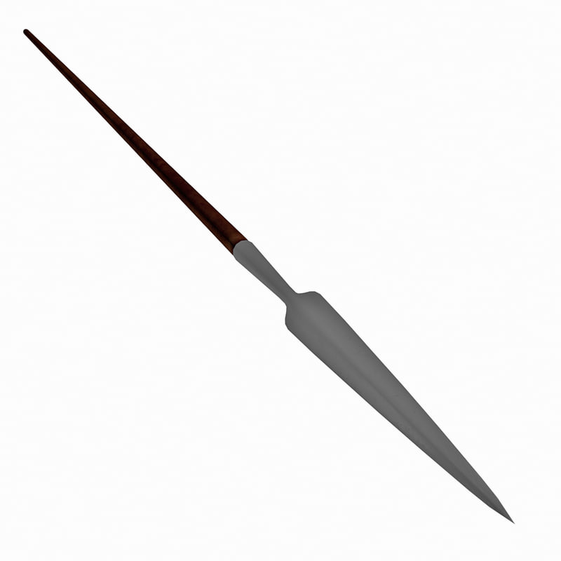 3d old worn english polearm