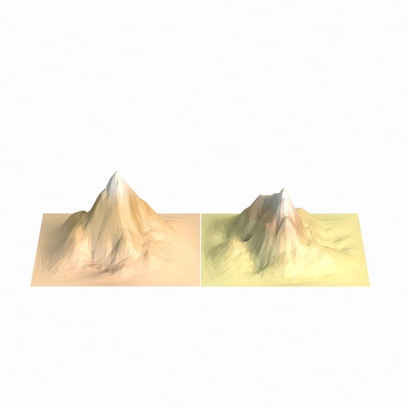 mountains 2 3d model