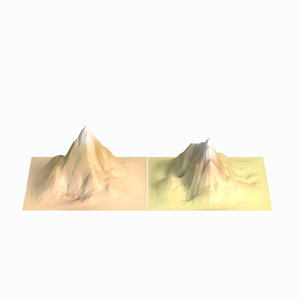 mountains 2 3d model