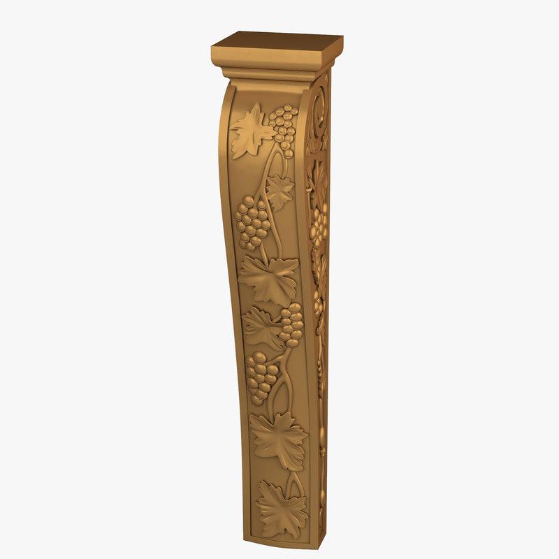 3d napa island leg corbel model