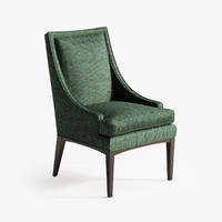 3d model bernhardt mya upholstered chair