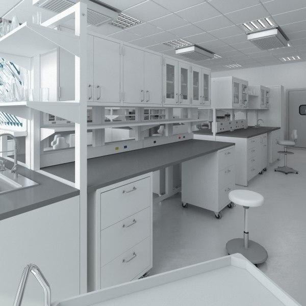 3d scene big hd laboratory