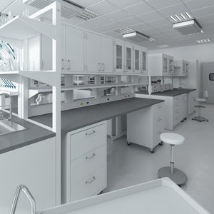 3d scene big hd laboratory