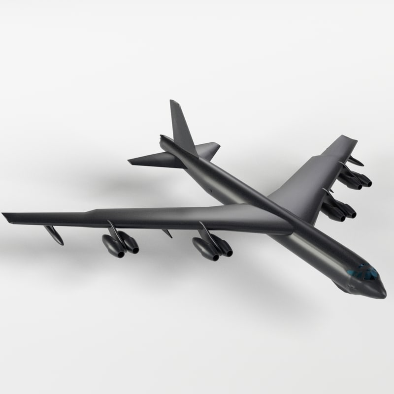 3d model b-52 stratofortress