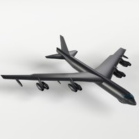 blend b-52 stratofortress uv unwrapped