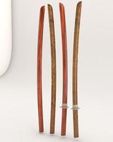 3d wooden bokken