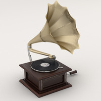 Wind-up gramophone
