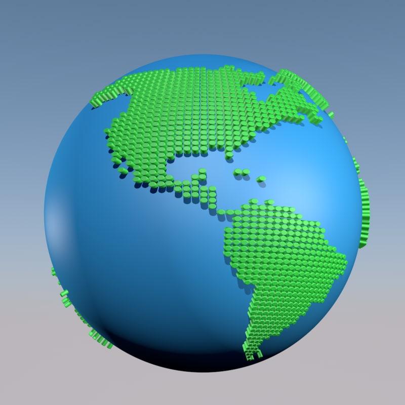 3d world dots