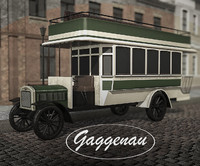 low-poly bus gaggenau c40 3d 3ds