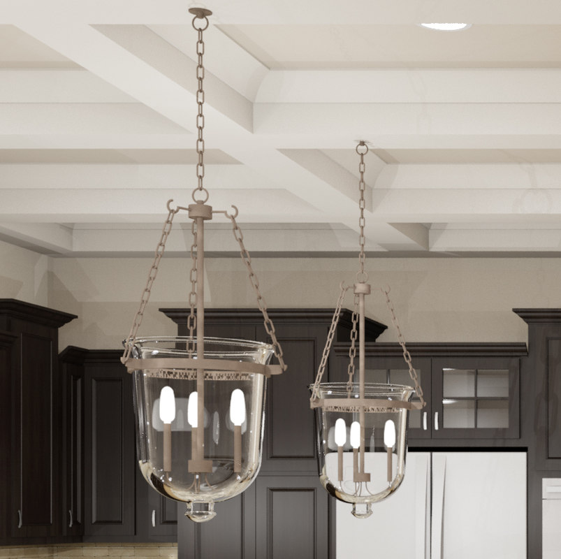 3d model hanging pendant light fixture