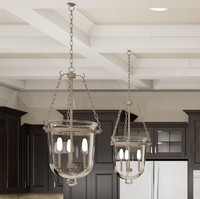 Glass Bell Hanging Light Fixture