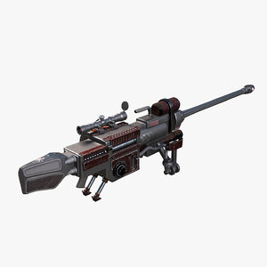 rifle sniper heavy 3d max