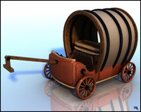 3d car carriage model