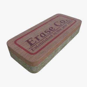 3d chalkboard eraser