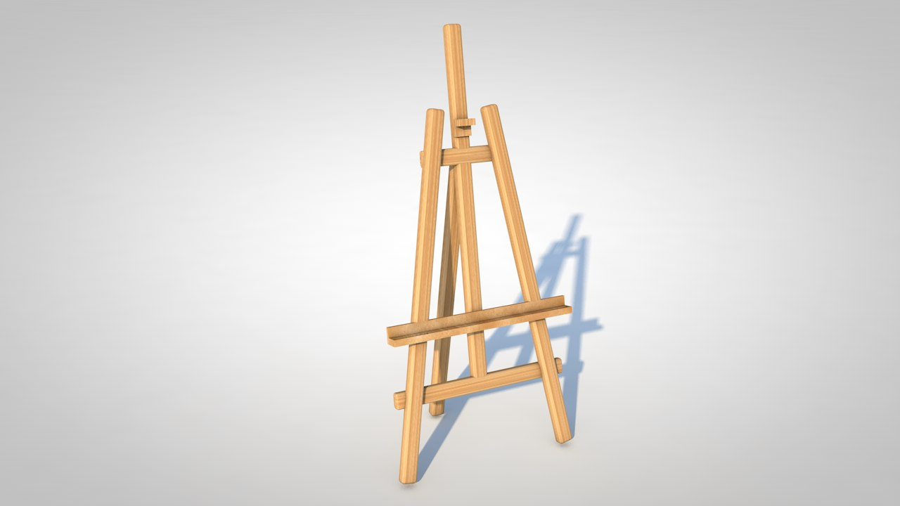 3d model of easel