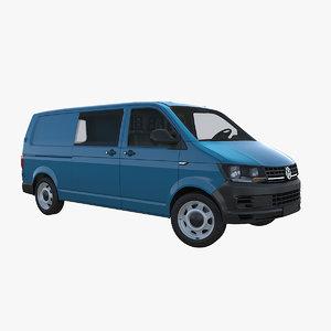 transporter t6 lwb 3d model