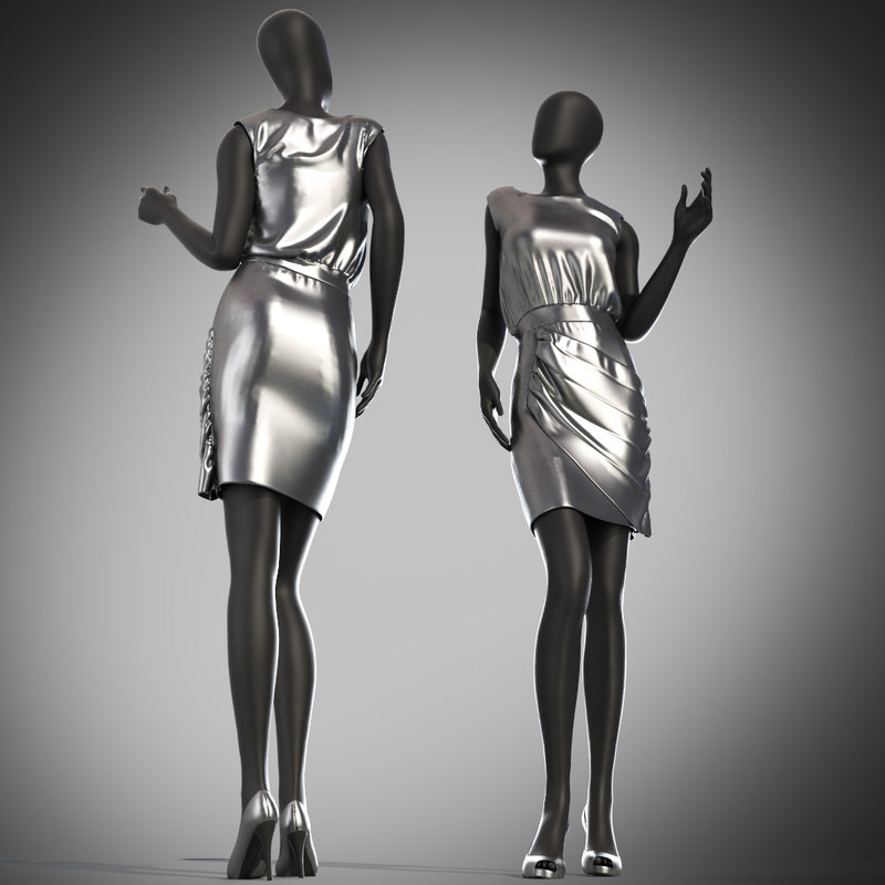 3d dress mannequin model