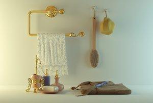 bathroom appliances 1 3d obj