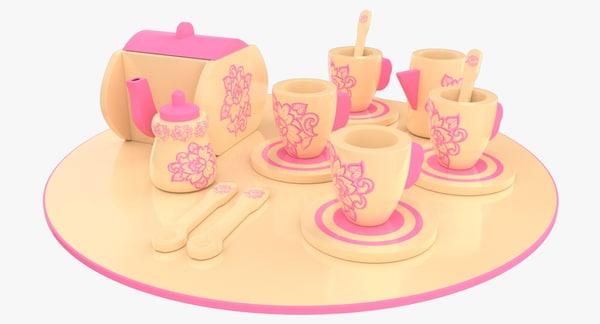 3ds toy tea set