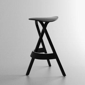 3d stefan diez stool model