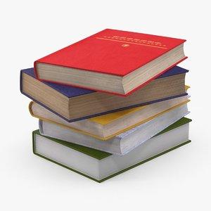 textbooks design 3d model
