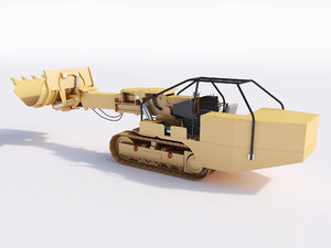 3d loader mining excavator model