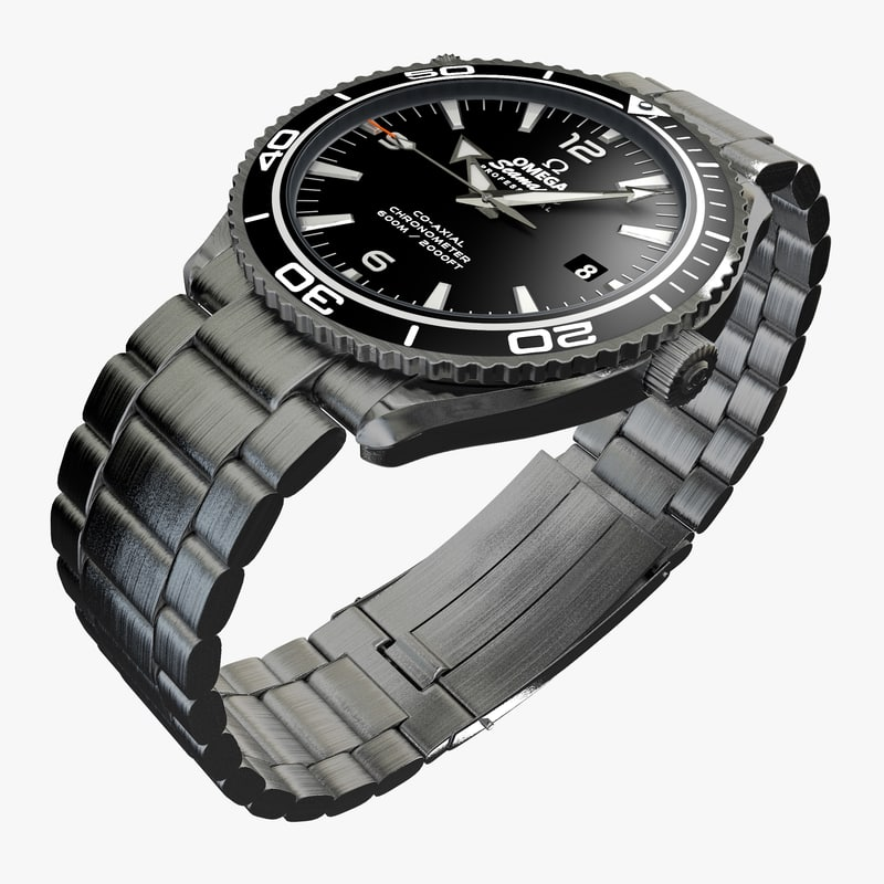 3ds max omega seamaster watch